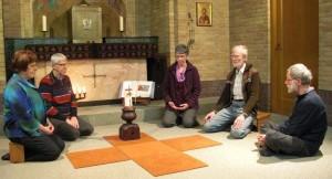 Foto van de kerngroep in de Fransiscus kapel.